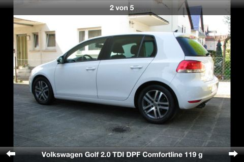 volkswagen golf vi highline allemagne d 39 occasion 90000km. Black Bedroom Furniture Sets. Home Design Ideas